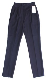 Escada Silk Wool Tapered Trouser Pants BLACK