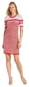 Escada short dress Red / Beige Sport Saygoni Knit on Tradesy