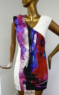 Escada Multi Colored Stretch Dress