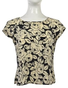 Escada Womens Black Top Black, Ivory