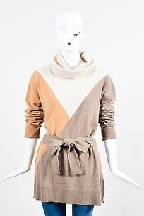 Escada Beige Brown Wool Silk Sweater
