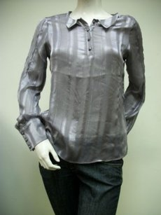 Esley Long Sleeve Four Button Front 2706t Top Purple