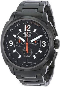 ESQ Esq By Movado Excel Chronograph Black Ip Mens Watch 07301418
