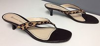 Etienne Aigner Brown Black Multi-Color Sandals
