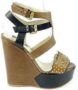 Etro Strappy Studded Black / Brown Platforms