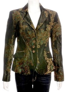 Etro Olive and Tan Blazer