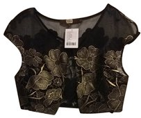 Eva Franco Top Black With Gold