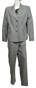 Evan Picone Evan Picone Womens Montpellier Gray Two Piece Pant Suit