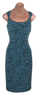 Evan Picone Houndstooth Side Ruched Dress