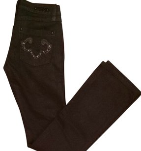 Express Studded Jean Rerock Boot Cut Jeans-Dark Rinse