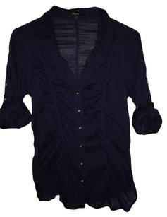 Express Button Down Shirt Navy blue