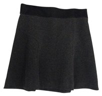 Express Flared Mini Skirt Gray and black