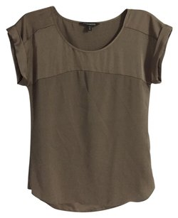 Express Polyester Spandex Brown Top Taupe