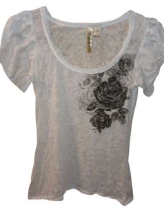 Eyeshadow T Shirt White Burnout