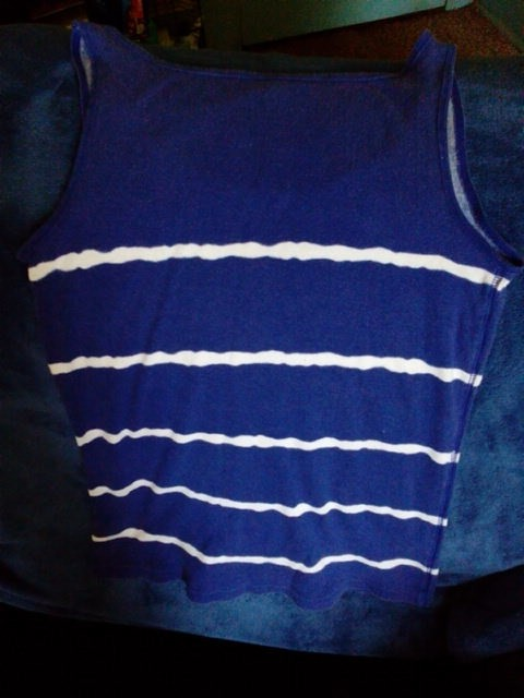 Faded Glory Blue With White Comfortable Activewear Top