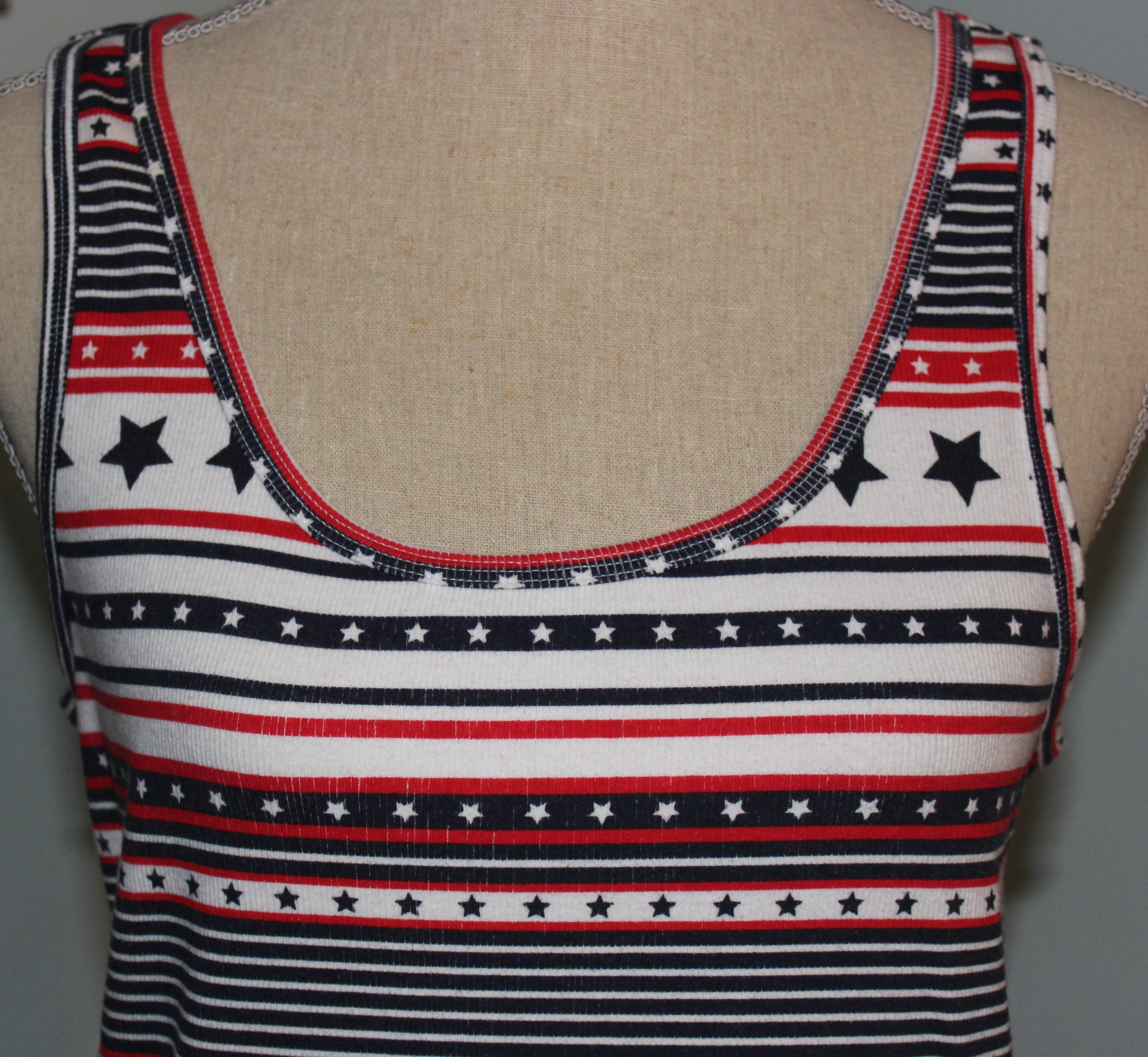 Faded Glory Top Red White And Blue