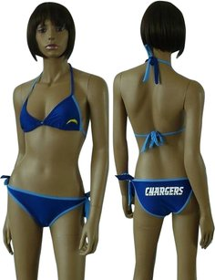 Fanatics San Diego Chargers 2 Piece Bikini Stretch Navy Blue Size Medium