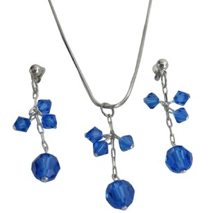 Blue/Sapphire Amazingly Unique Gifts Her Free Customization Crystal Jewelry Set