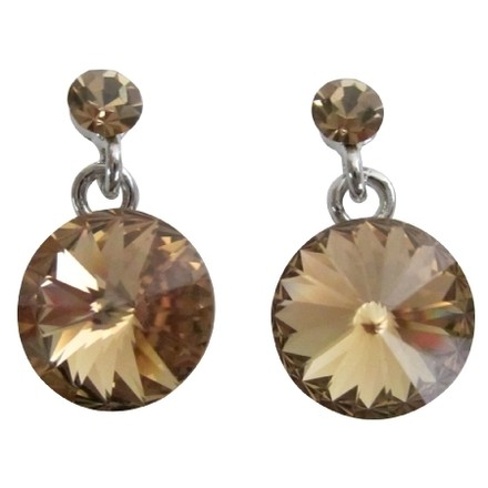 Beautiful Gift Someone Special Brown Crystal Earrings
