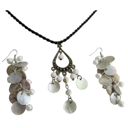 White Christmas Gifts Holiday Shell Jewelry Set