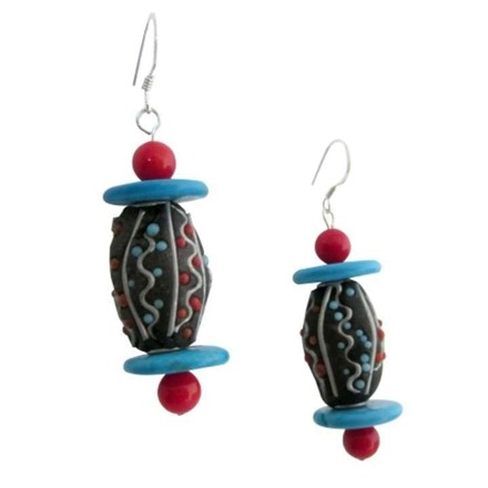 Black Looking Low Price Christmas Gifts Artisian Earrings
