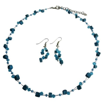 Turquoise Offer Variety Custom Unique Nuggets and Crystals Jewelry Set