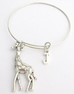 Fashion Jewelry For Everyone Large Giraffe Bangle Giraffe Bracelet Silver Giraffe Large Giraffe Set