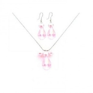 Ns843 Customize Your Wedding Jewelry Rosaline Teardrop Crystals Necklace Set