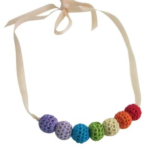 Rainbow Crochet Necklace Baby Shower Gift