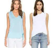 Feel the Piece Top White Turquoise
