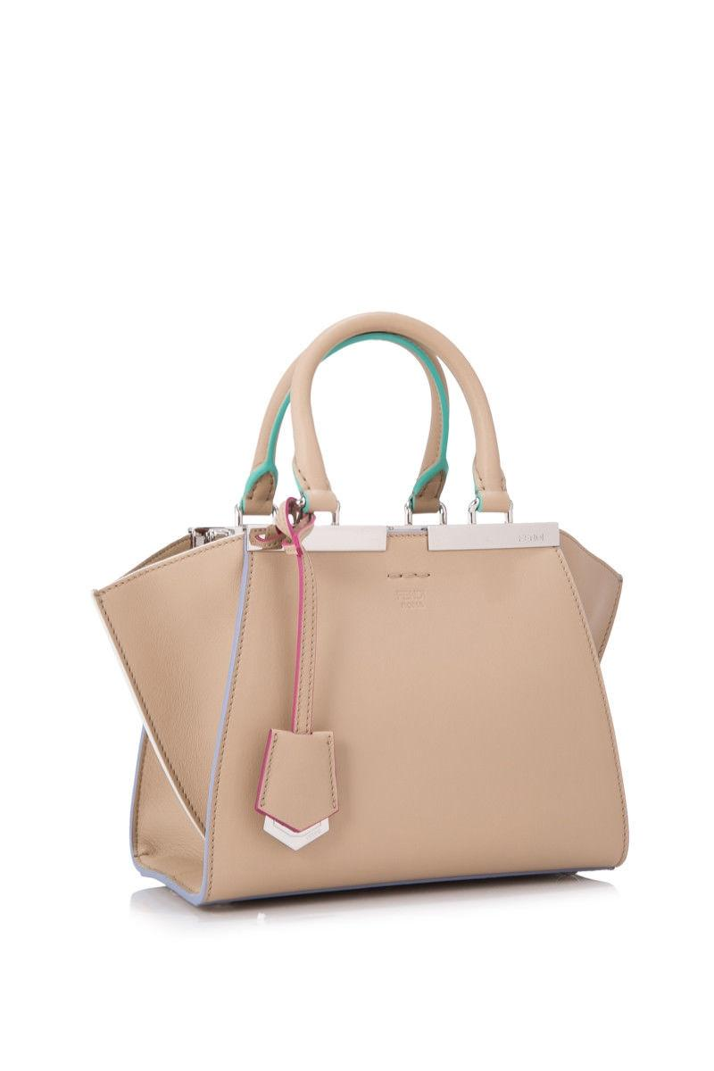 448c45bd51 ... norway fendi 3jours mini shopping beige calfskin leather tote tradesy  1eaaa 4e135