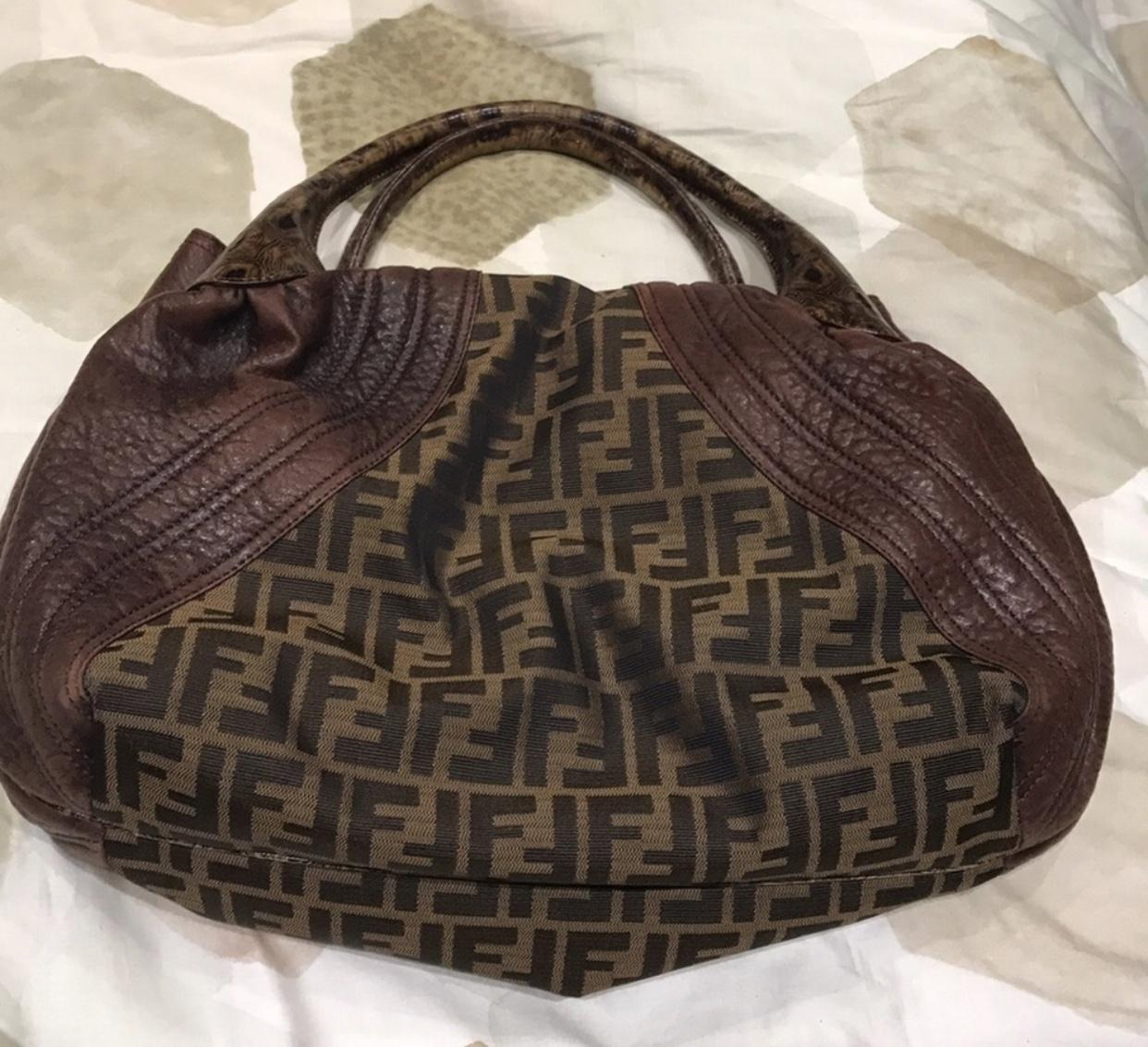 9a9d9517ad 76056 5660b; clearance fendi and cloth labeled side handbag brown leather  shoulder bag 4d94a 2e893