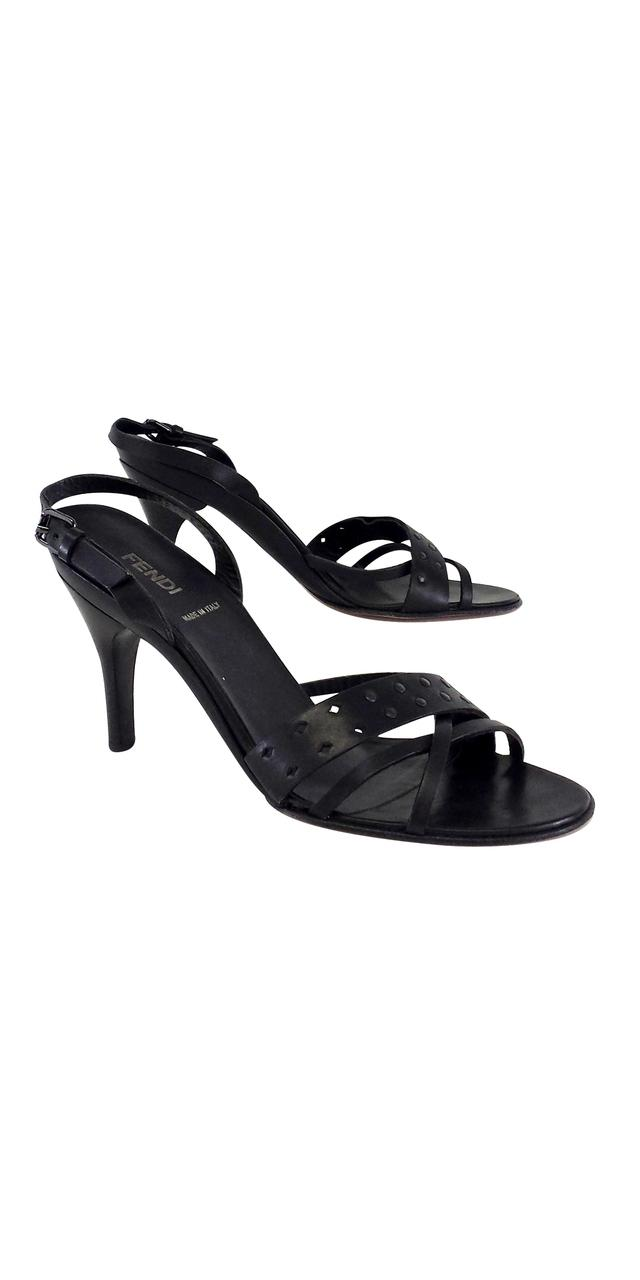 Fendi Leather Cutout Sandals discount factory outlet MliRP