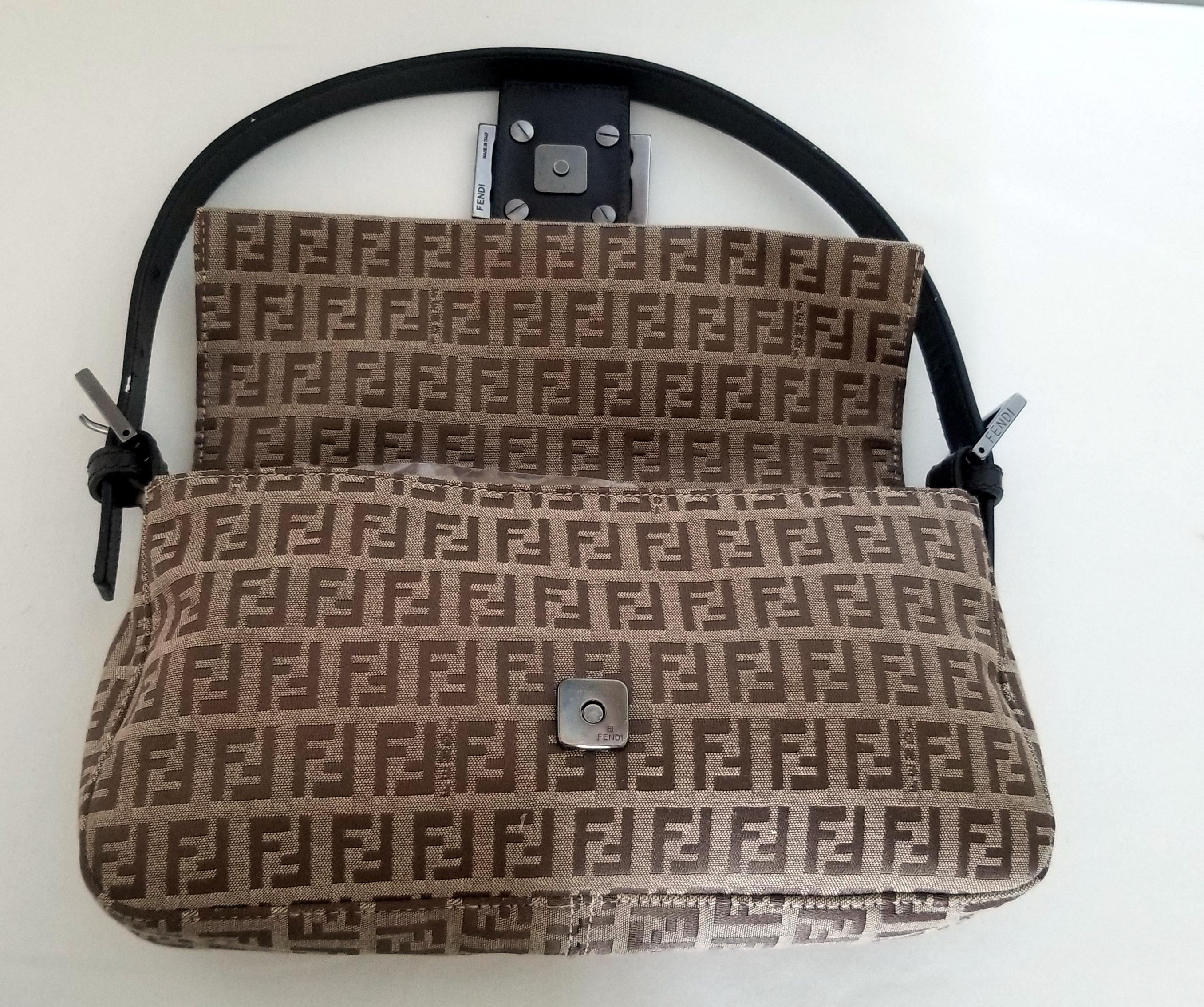 69ea484fd31e ... sale fendi borsa zucch zucca monogram baguette brown beige fabric shoulder  bag tradesy 37ad2 6278b ...