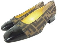 Fendi Brown, Black Pumps