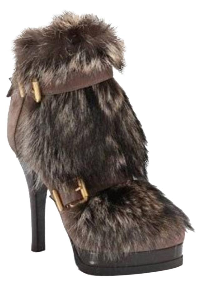 fendi brown fur boots on sale 70 boots booties