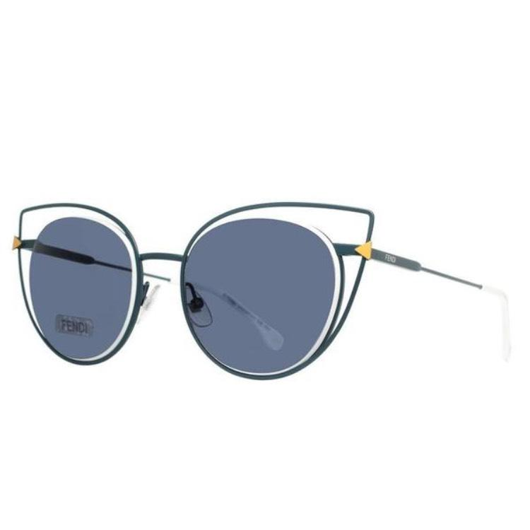 fendi cat eye sunglasses sale aa2n  Fendi Cat-Eye Metal Frame Sunglasses