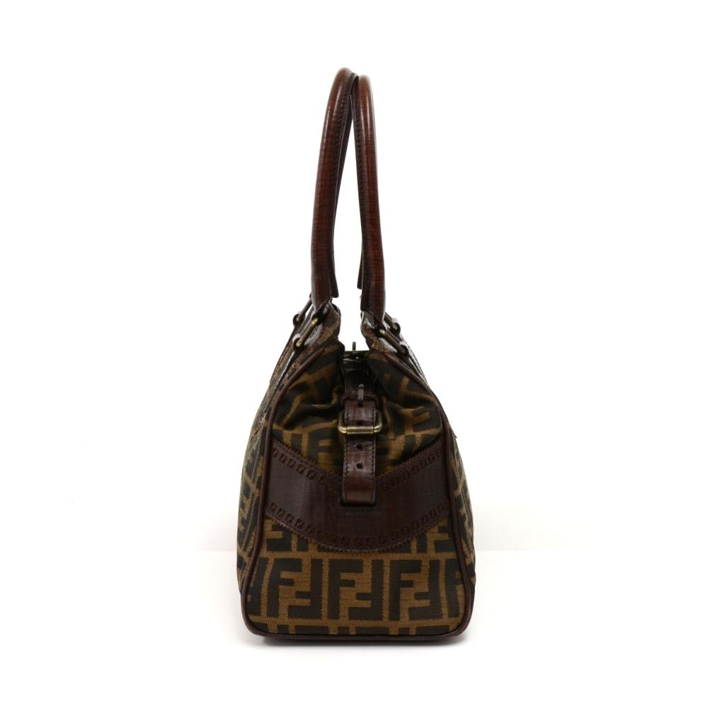 61c1a5ed6a69 46698 738c2  france fendi de jour tobacco zucca leather brown nylon  shoulder bag tradesy 9cc66 7e280