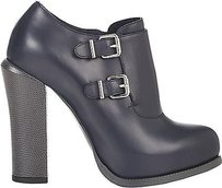 Fendi Navy Smooth Leather Gray Boots