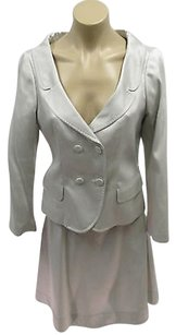 Fendi Fendi Italy Couture Silver Gray Jacket A Line Tulle Skirts -