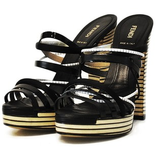Fendi High Heel Black and White Platforms