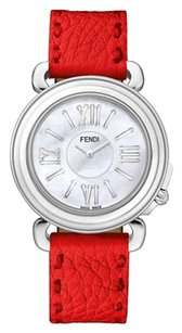Fendi Ladies Selleria Round Stainless Steel Watch F8010345H0