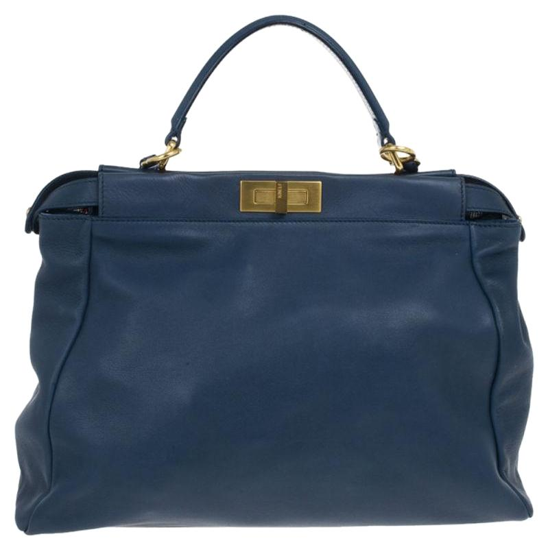 ... coupon code for fendi leather beaded peekaboo sequined tote in blue  21ad8 b2518 9883dfb487a83