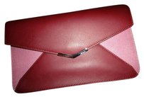 Fendi NWT $445 FENDI 2JOURS COLOR BLOCKED LEATHER WALLET CLUTCH RED