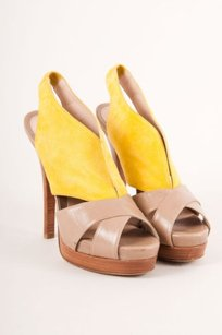 Fendi Yellowtan Suede Leather Sandals