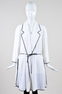 Fendi White Black Drawstring Cream Jacket