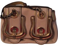Fendi Satchel in Gold And Natural