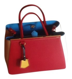 Fendi Satchel in NEW WITH TAGS LARGE RED/MULTICOLOR