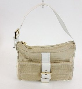 Fendi White Zucca Max059422 Shoulder Bag