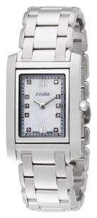 Fendi Fendi Timepieces Diamond, Mother-Of-Pearl & Stainless Steel Bracelet Watch
